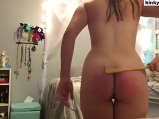 Self punishment of my ass and my pussy