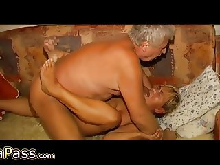 OmaPass Horny old ladies masturbate their old pussy