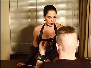 Nice Leather Mistress Spanking hard!