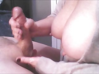 Slow Motion Cock Milking Cumshot