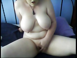 Big Tittied fat Chubby Teen fingering her wet pussy