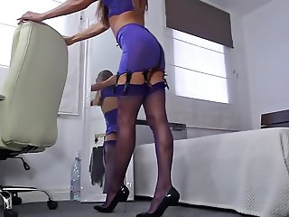 Perfect body in Stockings and Heels Tease