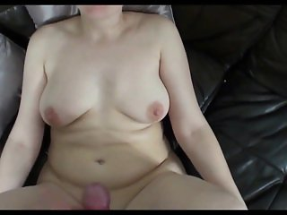 Horny housewife sucking and fucking