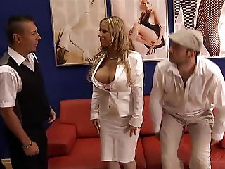 Great fuck in white stockings