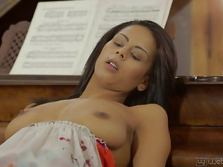 Piano Makes Her Pussy Wet