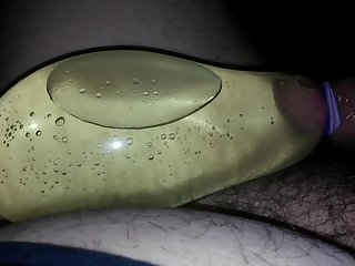 pissing in a condom part1