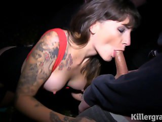 Adreena Winters Sucks Five Dicks