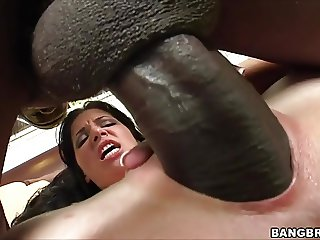 Rebeca Linares screams on Monster Cock