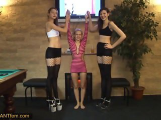 2 Tall Women and Small Girl Compares