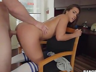 Perfect ass bitch Kelsi Monroe gets pounded doggy style