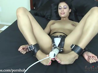 Lilly Evans Belt Bound and Vibed to Orgasm