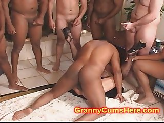 Granny is a TOTAL SPERM WHORE