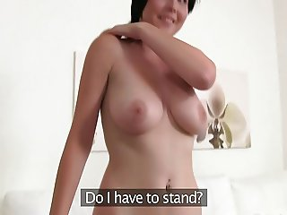 Czech girl with big boobies does audition