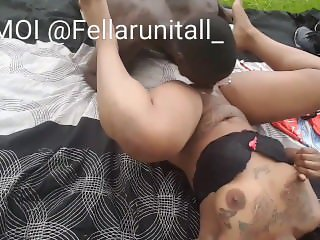 Eating Chocolate And Whip Cream Off My Girl Pussy By The Lake (NO MUSIC)