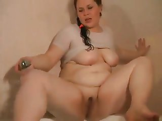 Fat Chubby Teen Ex GF masturbating delicious wet pink pussy