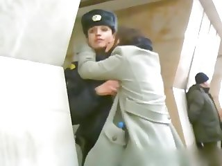 Russian lesbo action in metro