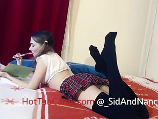 Naughty schoolgirl Nancy gets her fuck lesson from Sid