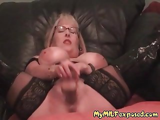 My MILF Exposed Stockings and boots mastrubation Hot Mom