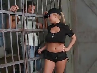 Big titted cop gets dped by two prisoners