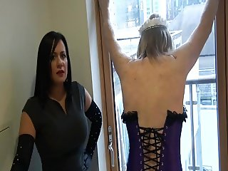 Mistress Spanks Sissy Maid