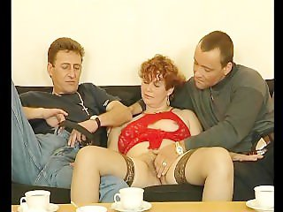 Mature redhead fucking younger men