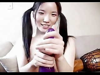 Asian - Hot Little Tit Babe Dildo Performance