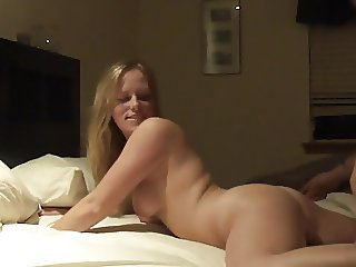 Beautiful young wife creampie by her stud hubby