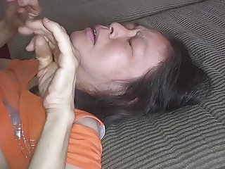 Chinese wife loves it from behind