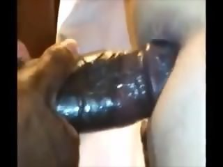 Two Monster black cock cum inside me