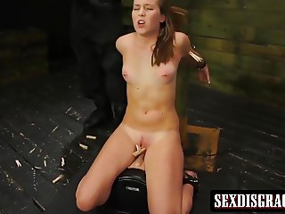Whore gets slapped and fucked roughly