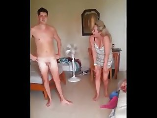 CFNM humilation Boy naked in front of girls, girls laughing