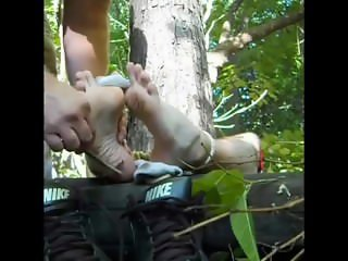 skater tied and tickled