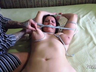 Bondage, Big Natural Tits Mature Aunt!