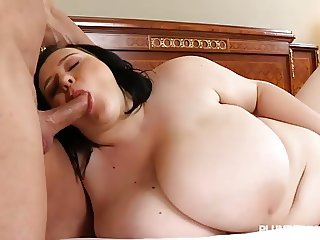 Busty Teen BBW Catches Teacher Sunbathing in the Nude