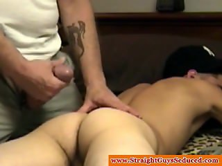 Straightbait amateur twink receives a gay bj