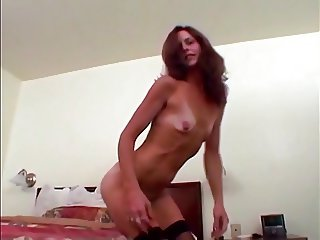 Flat chested skinny mature with small empty saggy tits 0