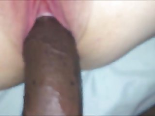 My white wife gets fucked by big black dick BBC