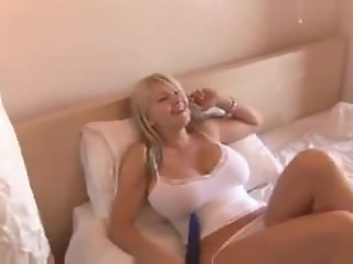 Big Tit Brit Toys with Her Hot Pussy
