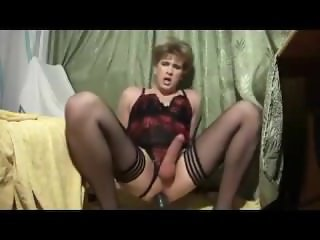 Beautiful Transexual Rides Her Toy