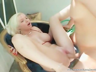 Alluring blonde fucked outdoors