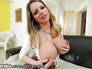 1000facials Brooklyn Chase Titty Fucks The FUCK Out Of That