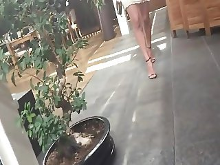 skinny beautiful teen legs and tight ass upskirt