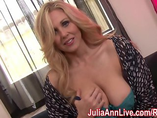 Kinky Milf Julia Ann plays with Nipple Clamps!