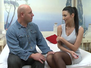 LaNovice - French brunette babe Ania Kinski gets anal-ized