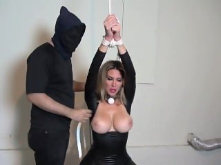 Tape Gagged Catsuit Bondage