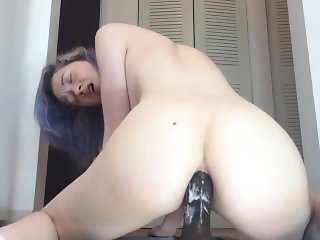 Webcam Asian Emo Teen with Anal Dildo Fun