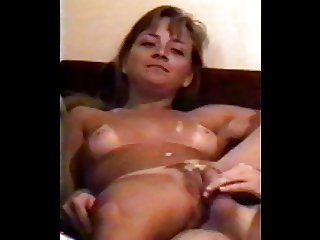 My first dildo and creampie