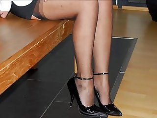 FEET & HEELS OF MY PROSTITUTE WIFE -- mdm