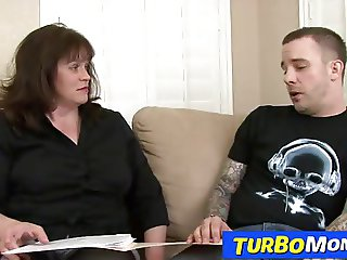 Chubby professor lady Ginger fucking a bad student