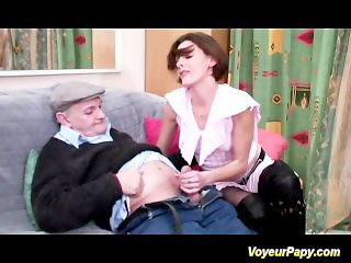 Papy and a good friend fucking hard this horny milf